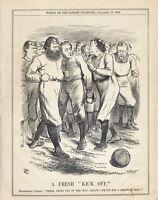 Vintage Punch Cartoon November 1876 - Political Posturing