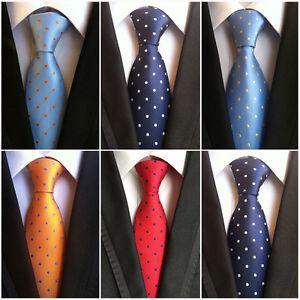 Mens Polka Dots Pattern 8cm Wide Ties Wedding Business Necktie New HZ028