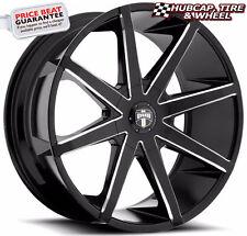 "DUB S109 Push Gloss Black & Milled 19""x8.5 Custom Wheels Rims (Set of 4)"