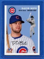 2018 Topps Throwback Thursday David Bote 1954 Topps Baseball Design #259 RC Cubs