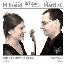 Milhaud / Jana Vonas - Muilhaud Britten Martinu [New CD]