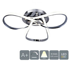 AUROLITE LED Semi-Flush Ceiling Light, Dimmable, Polished Chrome, Natural White