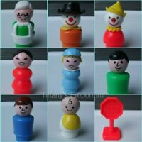 Vintage Fisher Price Little People Dad Mom Sesame Street Figures You Choose #4