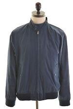 BEN SHERMAN Mens Harrington Jacket Size 42 Large Navy Blue Cotton