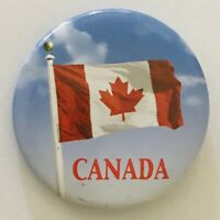 Canada Canadian Flag Souvenir Novelty Button Badge Pin Vintage (L44)