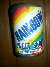 RAINBOW SWEET SNUFF TIN TOBACCO ADVERTISING UNOPENED 1.15 OZ