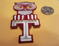 "Temple University owls vintage iron on embroidered patch 3.5"" x 1.5"" Nice"