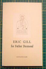 ERIC GILL limited edition book  1993 - John Dreyfus