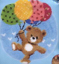 Knüpfpackung Knüpfen Teppich 55x62 Bär mit Luftballons Teddy Teddybär Kinder