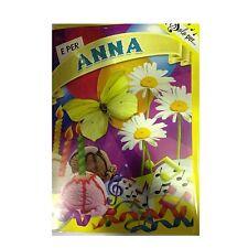 Tarjeta de cumpleaños musical genérico canta nome ANNA y FELIZ En TE