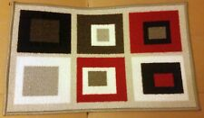 """TEXTILE KITCHEN RUG (nonskid back) (16"""" x 26"""") COLORFUL SQUARES by ADGO"""