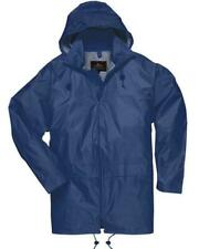 Men Womens Rainwear Waterproof Rain Jacket Coat Attached Hood Plus Sizes