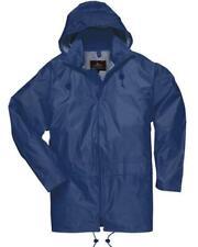 Men Womens Rainwear Waterproof Rain Jacket Coat Attached Hood Plus Sizes