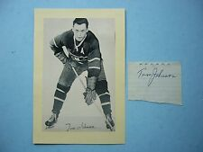 1944/64 BEEHIVE GROUP 2 HOCKEY PHOTO TOM JOHNSON HABS AUTO AUTOGRAPH BEE HIVE