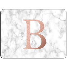 Mousepad EasyGrip Non Slip Mouse Pad PERSONALISED Initial White Marble Y01505