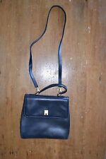 Etienne Aigner Dark Navy, Satchel Style Purse, Genuine Leather, Excellent Cond.