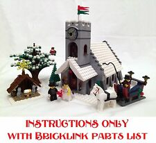 Winter Village Church INSTRUCTIONS ONLY for LEGO Bricks (Christmas Model)