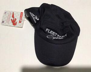 Fleet Feet Headsweats Race Cap NWT Quick Drying Black Ultralight Performance