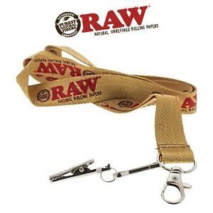 RAW Lanyard Key Chain Holder RAW Rolling Papers RAWthentic