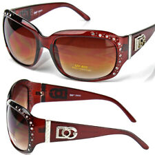 New WB Eyewear Womens Rhinestones Wrap Sunglasses Designer Fashion Shades Around