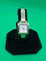 ladies timex essentials gold tone dress watch,white dial gold tone bracelet.b3.