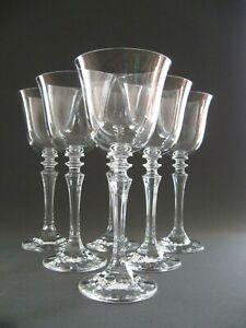Sechs elegante Kristall Weingläser original aus der Zeit um 1960 - alter Besitz