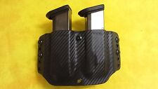 DOUBLE MAG HOLSTER BLACK KYDEX FITS FNS 9 9mm Outside Waistband