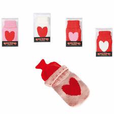 Handwärmer mit Strick Überzug im Herz Design Taschenwärmer Wärmflasche