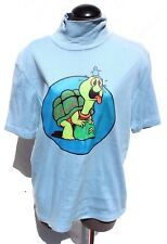 Vtg 1973 Men's Psychedelic Mod Funny Trippy Hippie Butterfly & Turtle Shirt