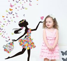 Removable Dancing Girl Wall Sticker Bedroom Decoration Wallpaper Mural Decals