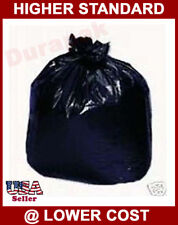 90~ 55 Gallon Black LDPE 1.3 mil Garbage Trash Can Liner Bags Waste Disposal Bag