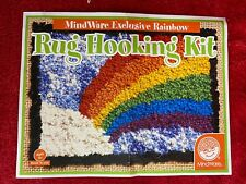 Rainbow Rug Hooking Kit by Mindware Bright Colored Yarn Full Kit In Package