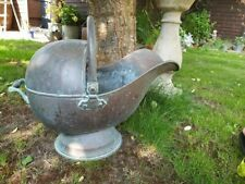 heavy copper coal scuttle Vintage