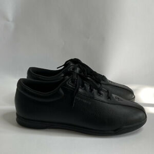 Easy Spirit Women's AP1 Leather Sneakers Shoes Black Size 8 M