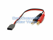 Battery Charger Charging Leads: FUTABA RECEIVER JST Servo Plug 4mm Bullet Banana