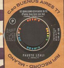 FAUSTO LEALI E I SUOI NOVELTY - A Chi  - Rifi - RFN NP 16171 - 1966 - Ita