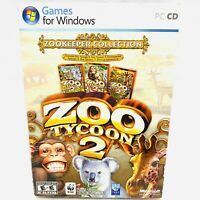 Zoo Tycoon : Zookeeper Collection PC CD-ROMs with Manual *VGC* Compete PAL