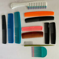Lot of 12 Vintage Retro 70s Hair Combs Picks Ace Goody Dupont Unbreakable USA