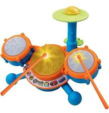 VTech Kids Drum Set Baby Toddler Boys Girls Portable Music Toy Room Pretend Play