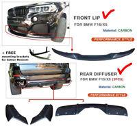 CARBON kit For BMW X5 F15 Performance m bodykit spoiler lip diffuser skirt