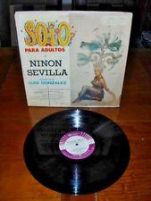 "NINON SEVILLA Solo Para Adultos AFRO LATIN RUMBA Rumbera 1964 MEXICO 12"" LP"