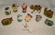 Christmas 11 pc Mary Jesus Joseph Wise Men Animals Angel Paper Mache Italy Old