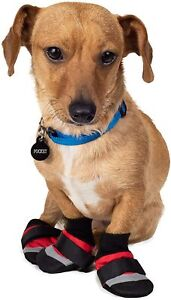 Extreme All Weather Dog Boots - XS - Set of 4 - Protect Ice/Cold - Red - NWT