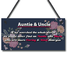 Novelty Auntie And Uncle Gifts For Birthday Christmas Gift From Niece Nephew