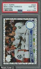 2011 Topps #424 Diamond New York Yankees PSA 10 GEM MINT