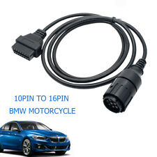 For BMW Motorcycle Diagnostic Cable Connector Adapter 10 PIN to OBD2 ICOM ISPA