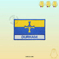 DURHAM County Flag With Name Embroidered Iron On Sew On Patch Badge