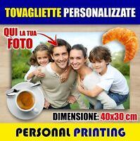 TOVAGLIETTA PVC COLAZIONE PERSONALIZZATA con FOTO HD GADGET americana 30x40 cm