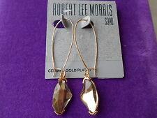 Robert Lee Morris SOHO Authentic NWT Silver-Tone Faceted Bead Long Drop Earrings