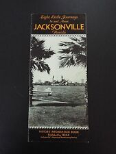 Eight Little Things In & About Jacksonville, FL Vintage Travel Brochure